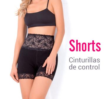 Shorts cinturillas de control matiz